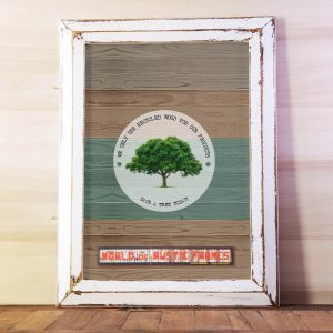 White A2 rustic frame