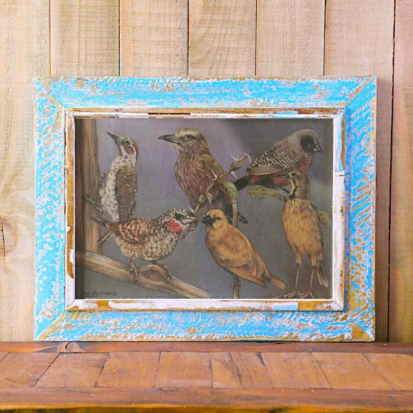 Powder Blue A3 Rustic Picture Frame