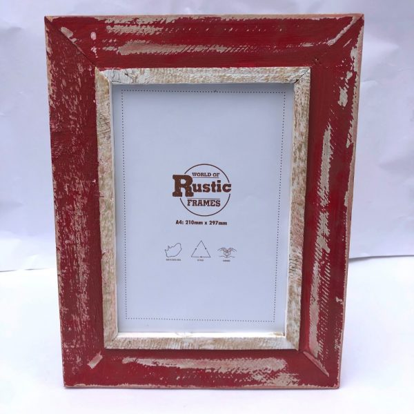 red a4 picture frame