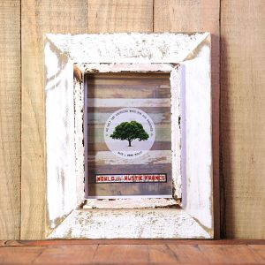 White Rustic A5 picture frame