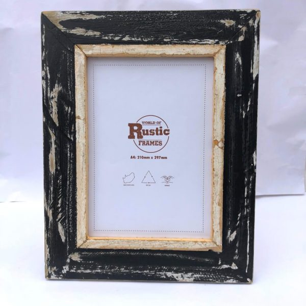 black A4 picture frame