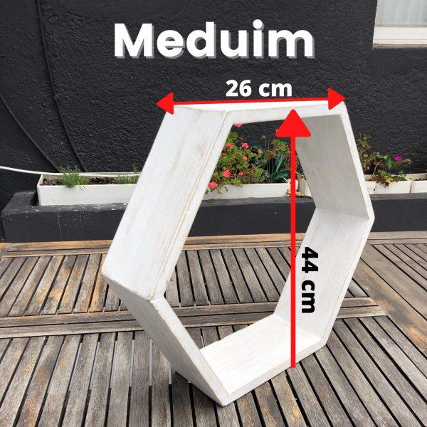 Medium Hexagonal Shelf labeled