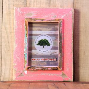 Pink A5 Rustic Picture Frame