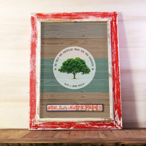 Red A2 Rustic frame