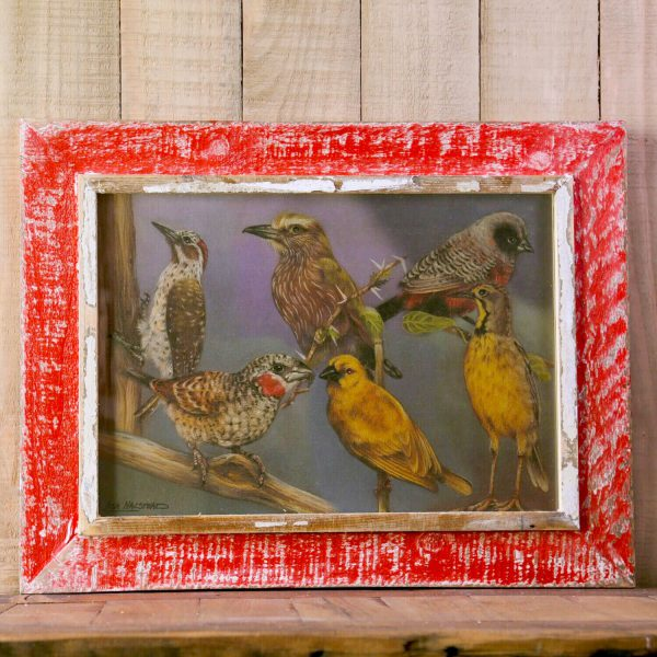 Red A3 Rustic Picture Frame
