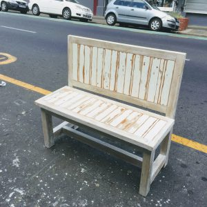wooden rustic bench