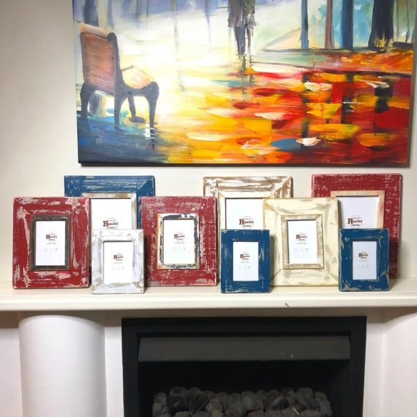 9 piece rustic picture frame french set 2