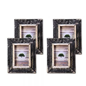 black rustic picture frame