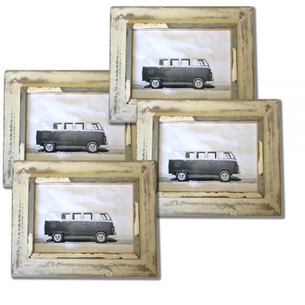 cream rustic picture frame set of 4