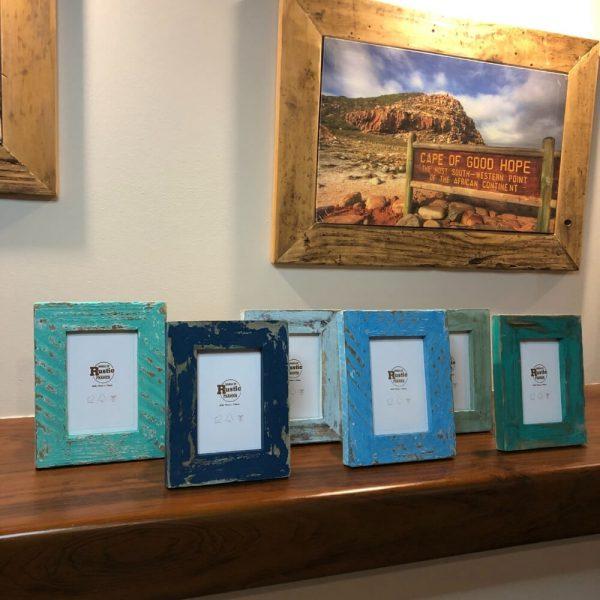 sea blue mini picture frame set of 6